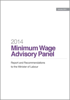 2014 Minimum Wage Advisory Panel: Report and Recomme