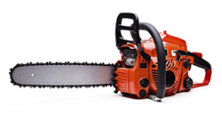 photo of a chain saw