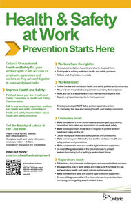 safety memo template - health safety at work prevention starts here ontario