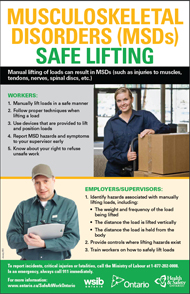 Poster: Safe Lifting