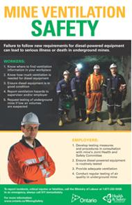 Poster mine ventilation safety